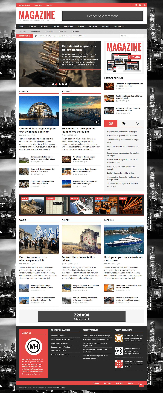 MH Magazine - Best Premium Adsense Optimized WordPress Theme