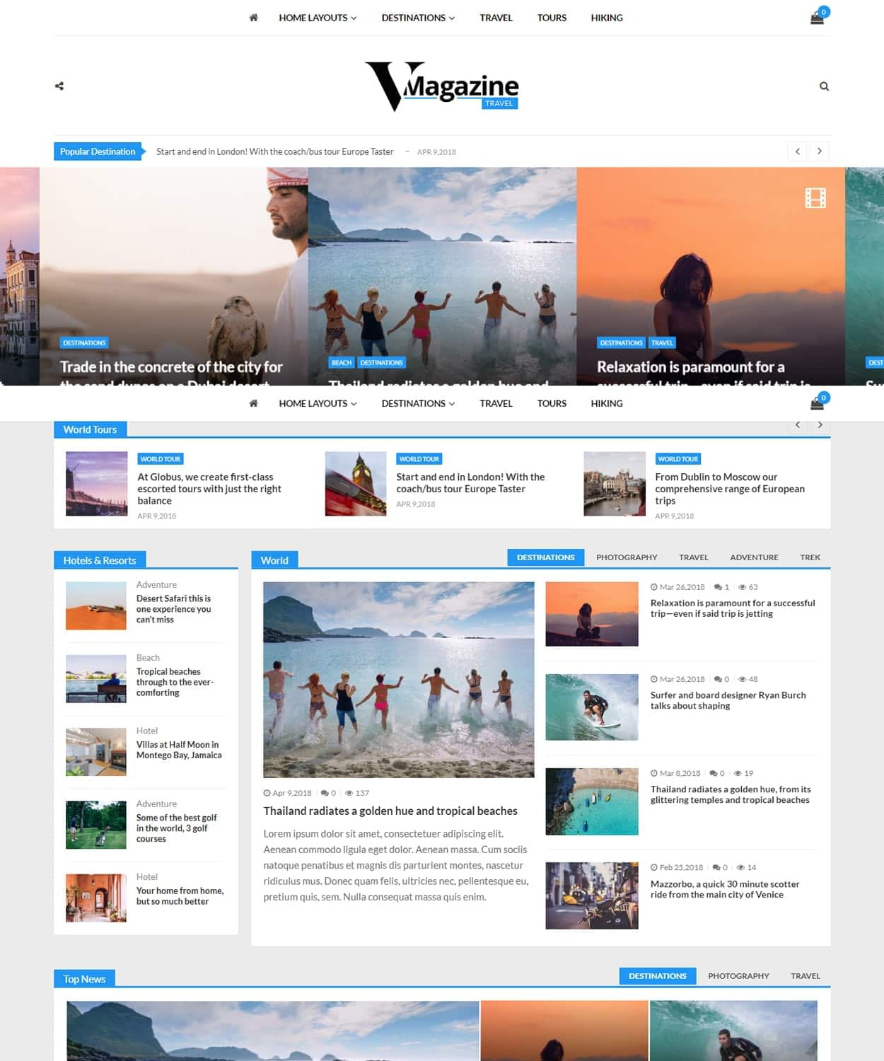 vmagazine travel - VMagazine Review - A hassle free, simple, clean and beautiful WordPress theme to start your news and magazine website