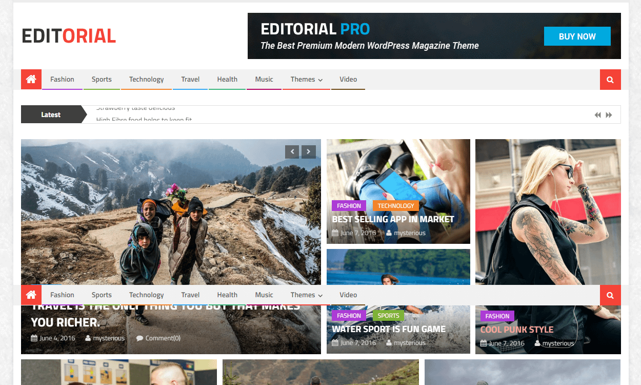 Editorial - Best Free WordPress News-Magazine/Online Editorial Themes