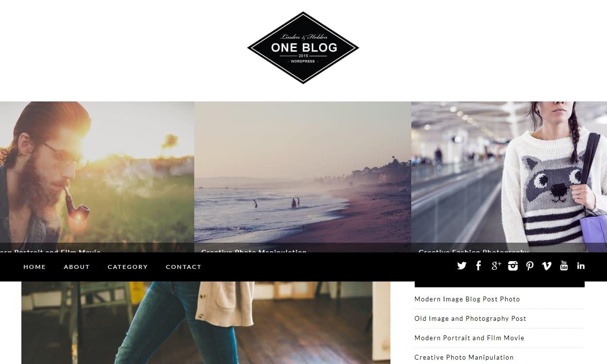 One Blog - Best Free WordPress Personal/Professional Blog Themes