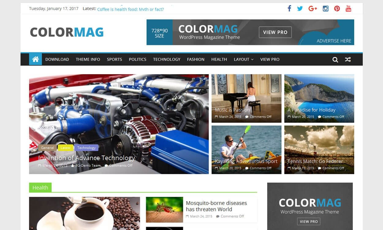 olorMag - Best Free WordPress News/Magazine/Online Editorial Theme
