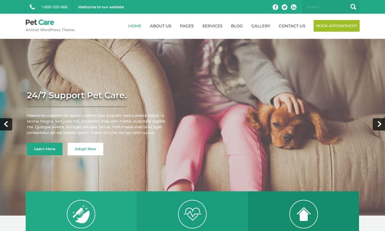 PetCare - WordPress Animal Theme