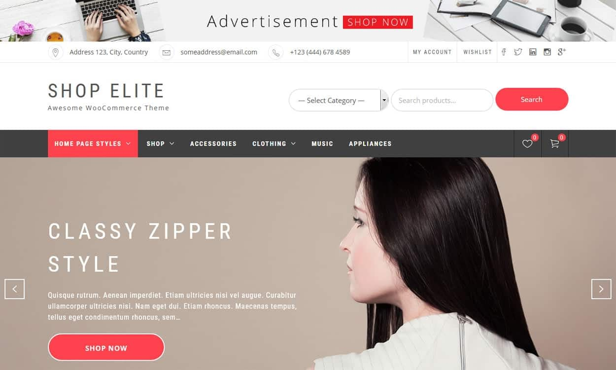 Shop Elite - WordPress eCommerce Theme