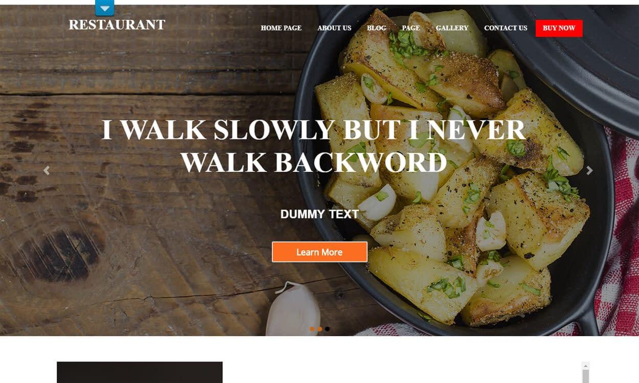 Food Restaurant - Best Free Hotel Resort WordPress Themes Latest