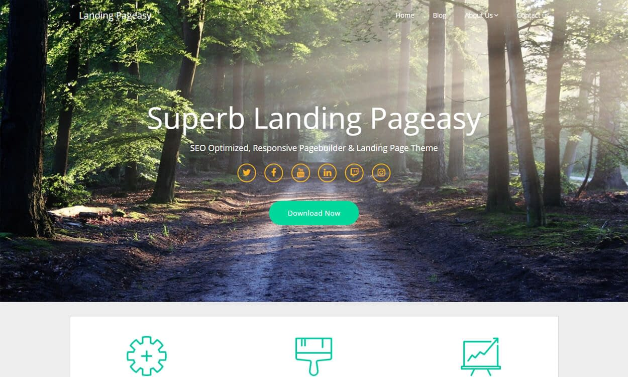 Landing Pageasy - Best Free WordPress Themes August