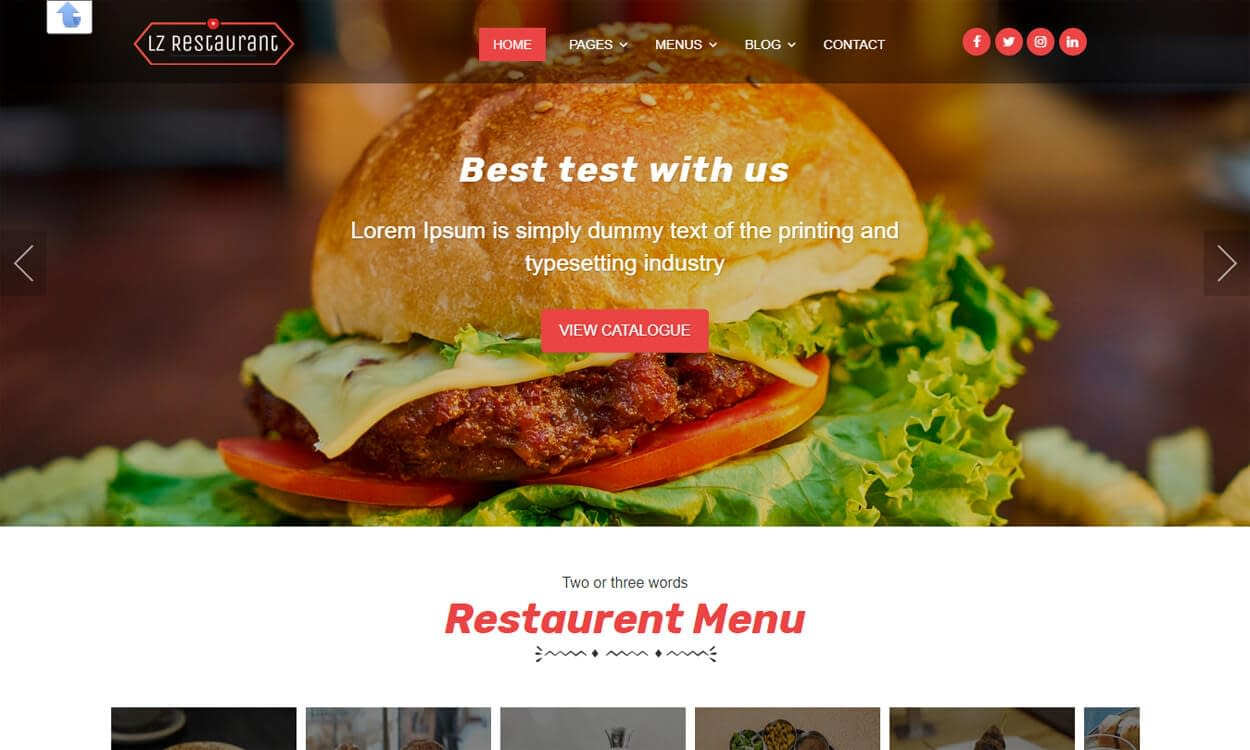 lzrestaurant - Best Free Hotel Resort WordPress Themes Latest