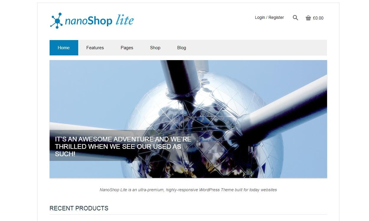 nano shop lite - 17+ Responsive Free eCommerce WordPress Themes for 2019