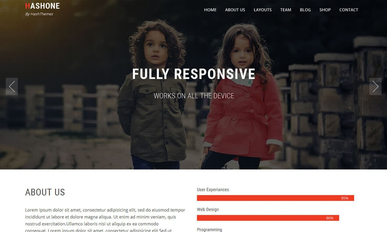 HashOne - 11+ Best Free Responsive WordPress Themes November 2016