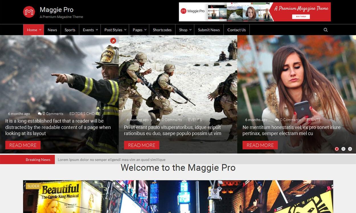 Maggie Pro - 21+ Best Premium WordPress News/Magazine/Editorial Themes 2019