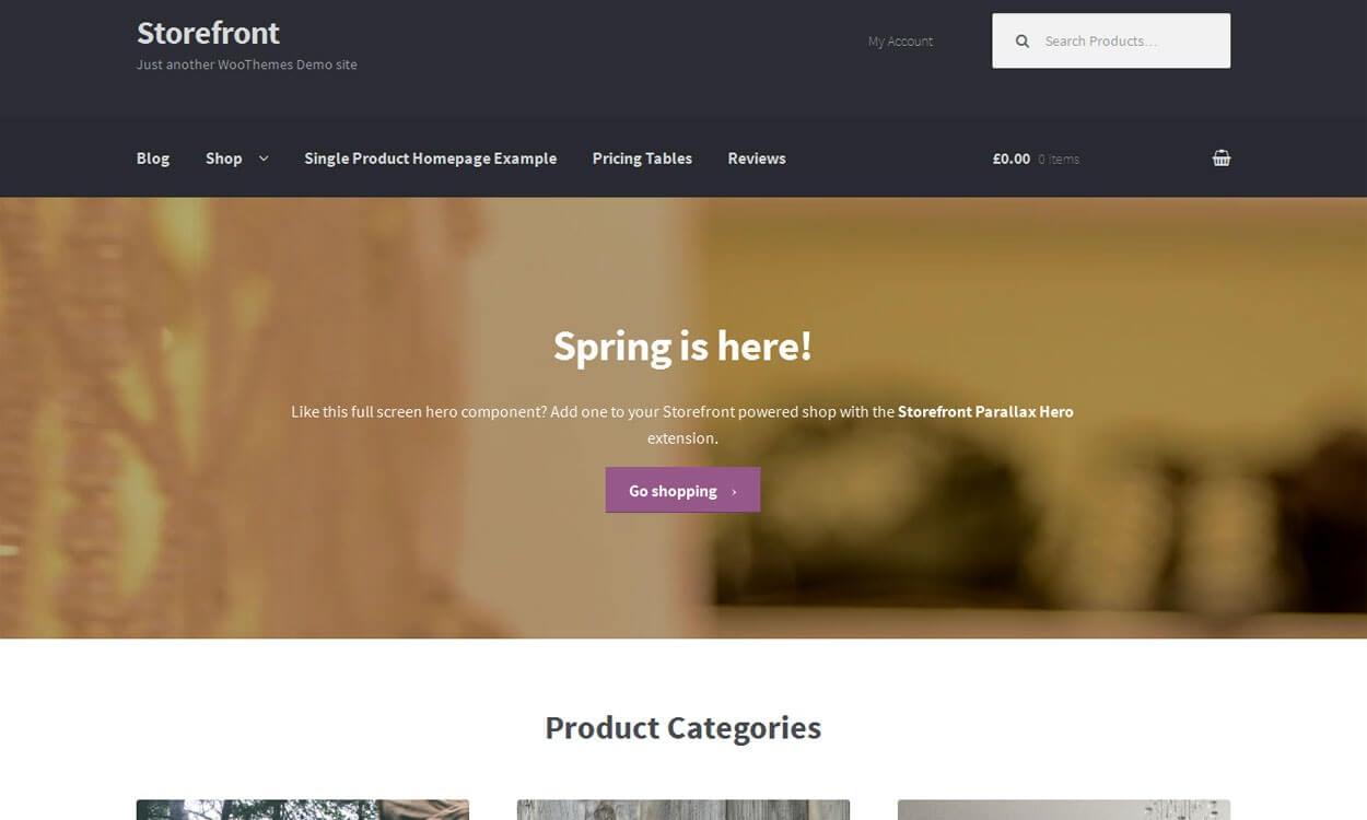 Storefront - Best Free WordPress eCommerce WooCommerce Themes