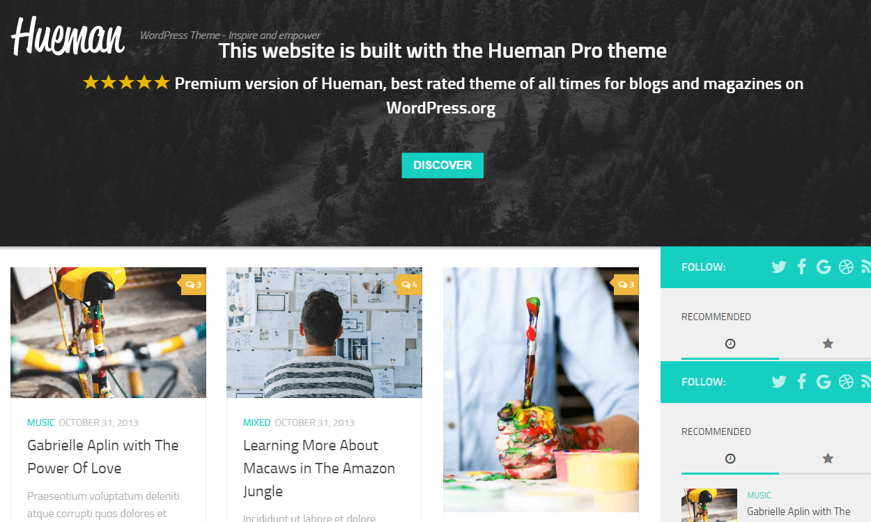 hueman - 25+ Best Free WordPress News-Magazine/Online Editorial Themes for 2019
