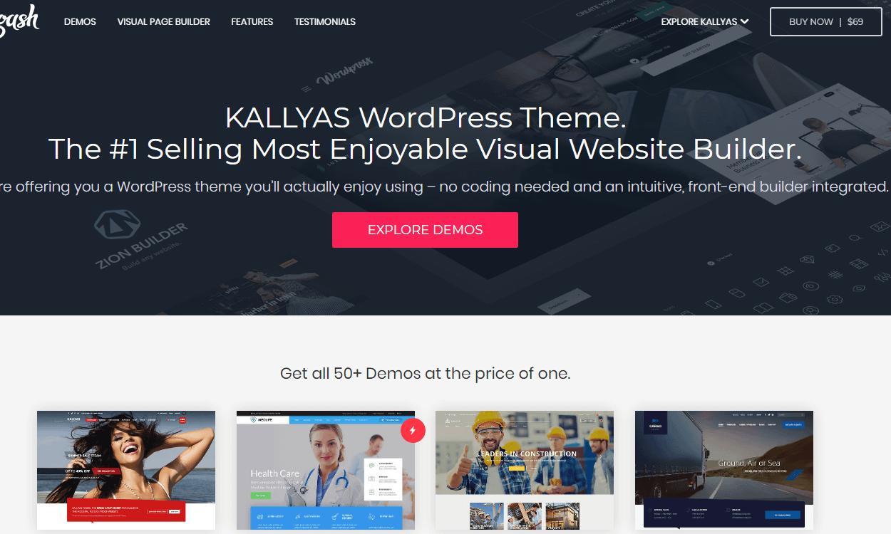 kallyas - 30+ Best Premium WordPress eCommerce/WooCommerce/Online Store Themes 2019