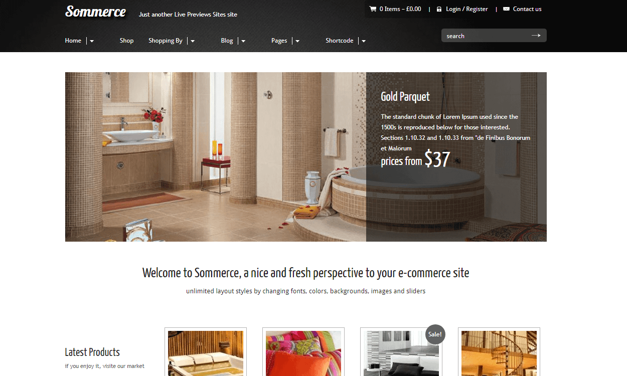 sommerce 1 - 30+ Best Premium WordPress eCommerce/WooCommerce/Online Store Themes 2019