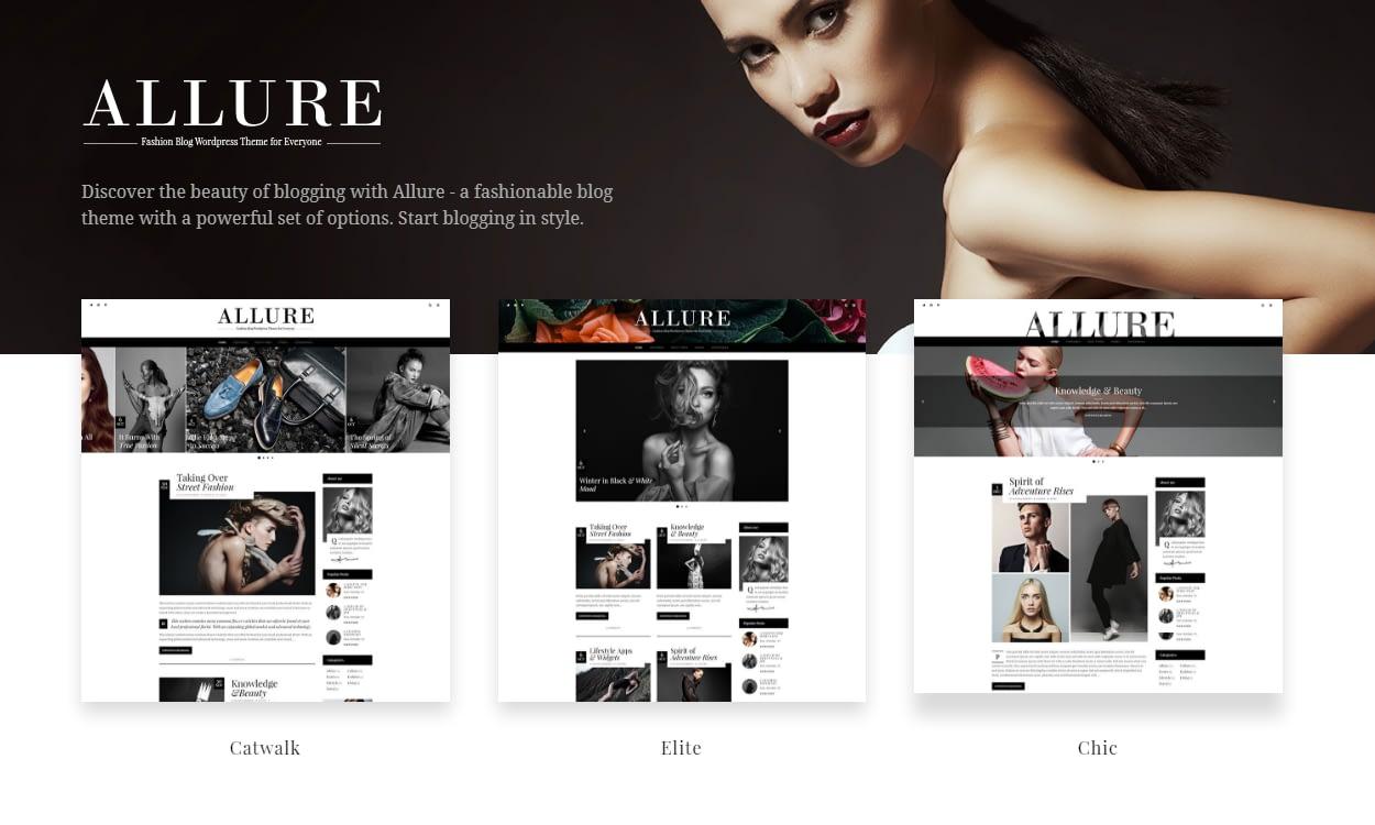 allure - 30+ Best Premium WordPress Blog Themes 2019