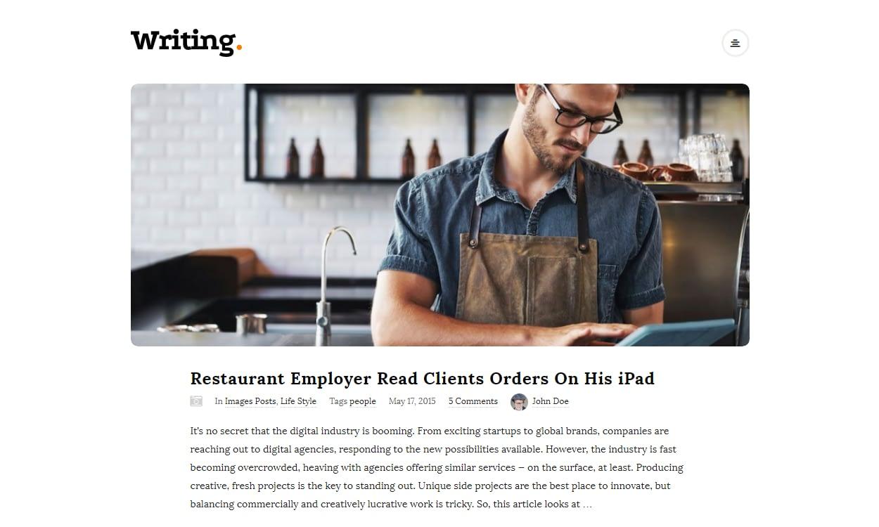 writing blog - 30+ Best Premium WordPress Blog Themes 2019