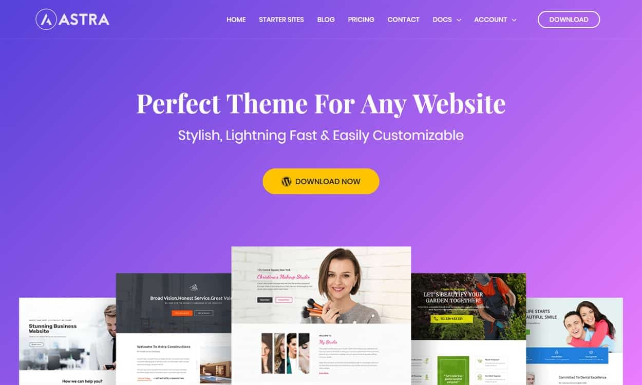 astra - 10+ Best Agency WordPress Themes and Templates (Free)