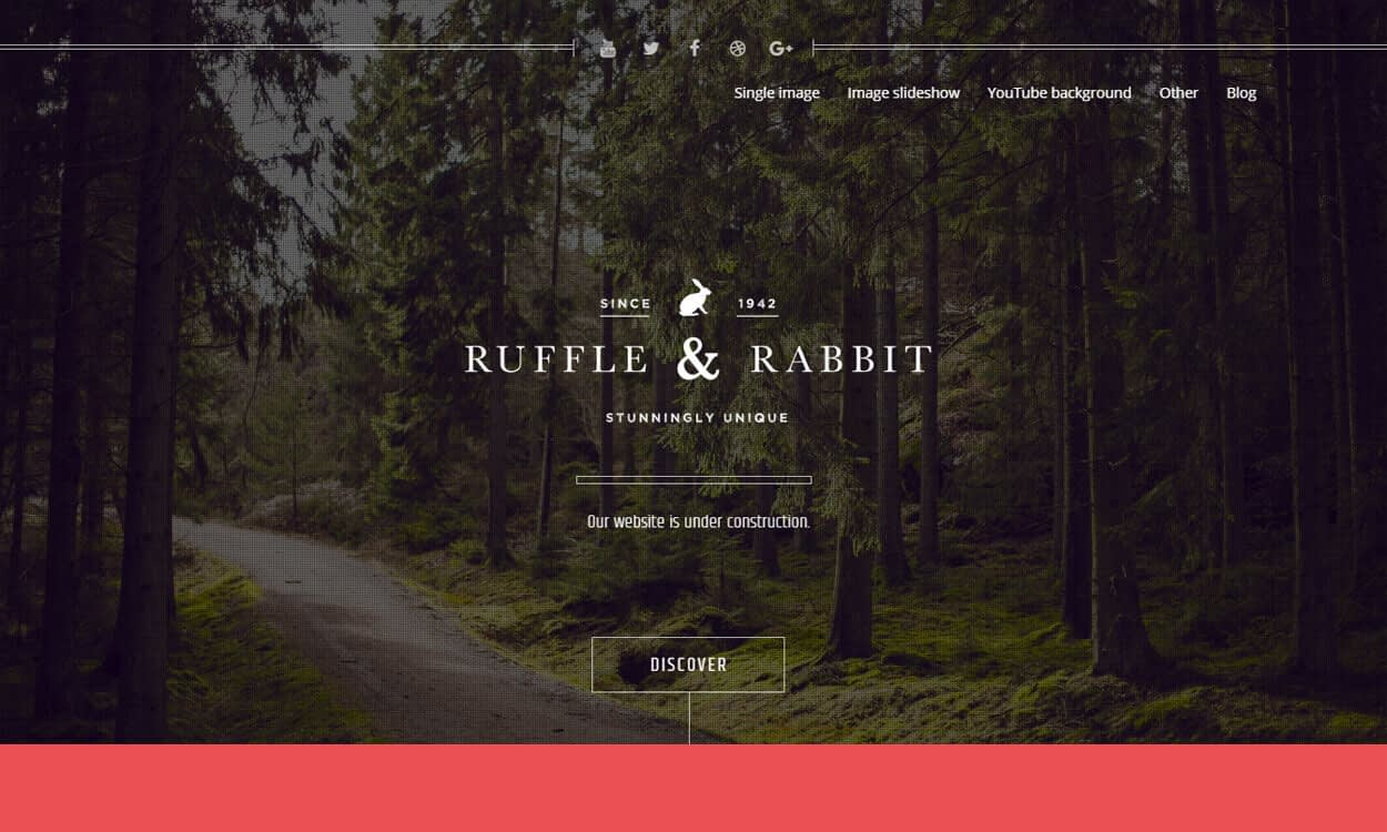 Rabbit - Best Coming Soon and Under Maintenance WordPress Themes and Templates