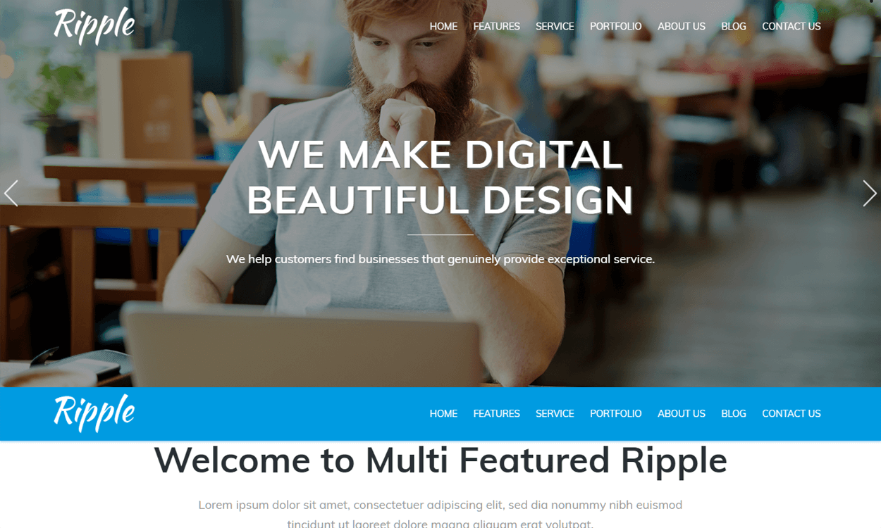 Ripple-Best Agency WordPress Themes and Templates (Free)