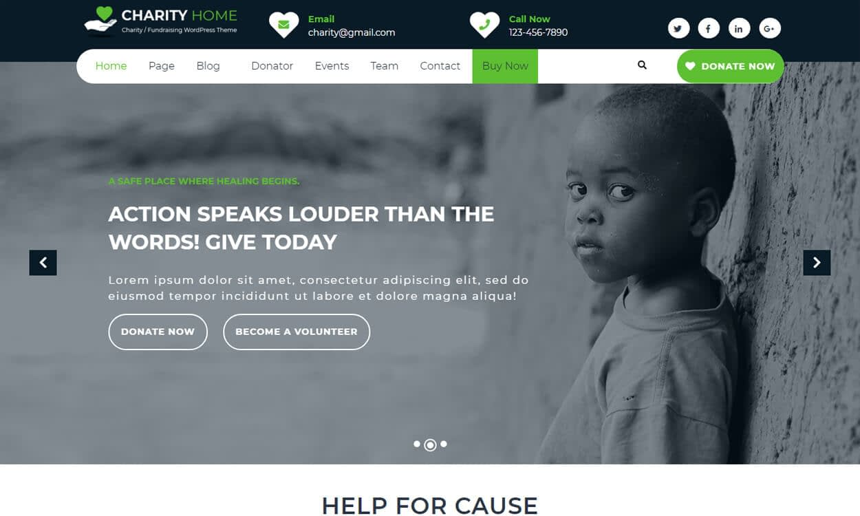 charity fundraiser - 25+ Best Free WordPress Themes August 2018