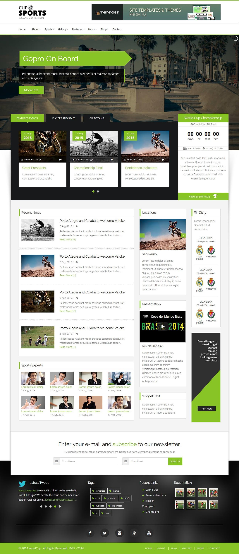 sportscup best premium sports wordpress theme - 10+ Best Premium Sports WordPress Themes