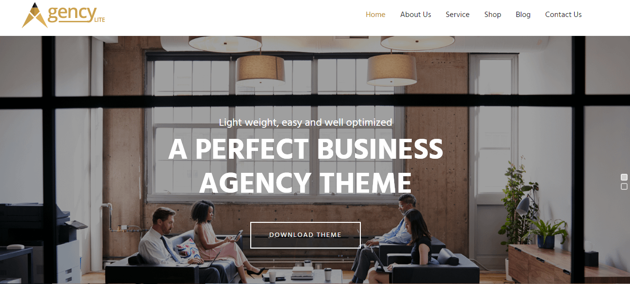 Agency Lite Free WordPress Business Theme - 21+ Best Free WordPress Themes (July 2018 Releases: Hotel, Business, Lawyer, Blog, Magazine, Education, Photography and more...)