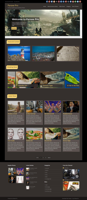 paraxe best free gaming wordpress theme - 10+ Best Free Gaming WordPress Themes