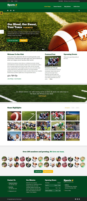 sport best premium sports wordpress theme - 10+ Best Premium Sports WordPress Themes