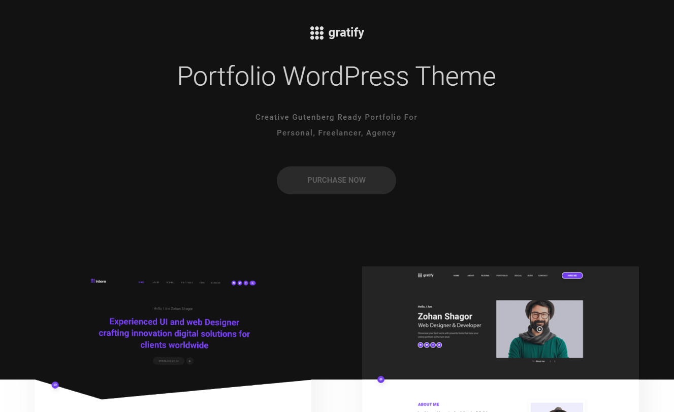 Gratify - WordPress Gutenberg Theme
