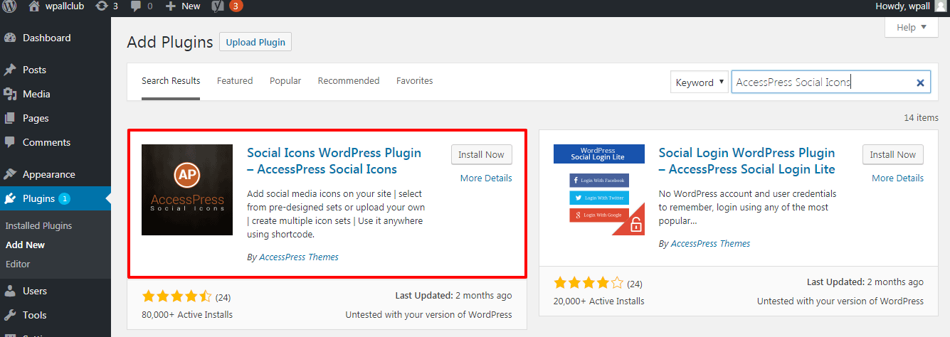 accesspress social icons - How to add social media icons in your WordPress Sidebar