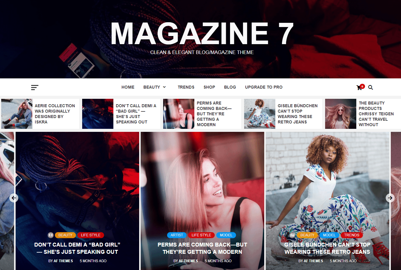 Magazine 7 Free WordPress Magazine Theme - 21+ Best Free WordPress Themes (July 2018 Releases: Hotel, Business, Lawyer, Blog, Magazine, Education, Photography and more...)