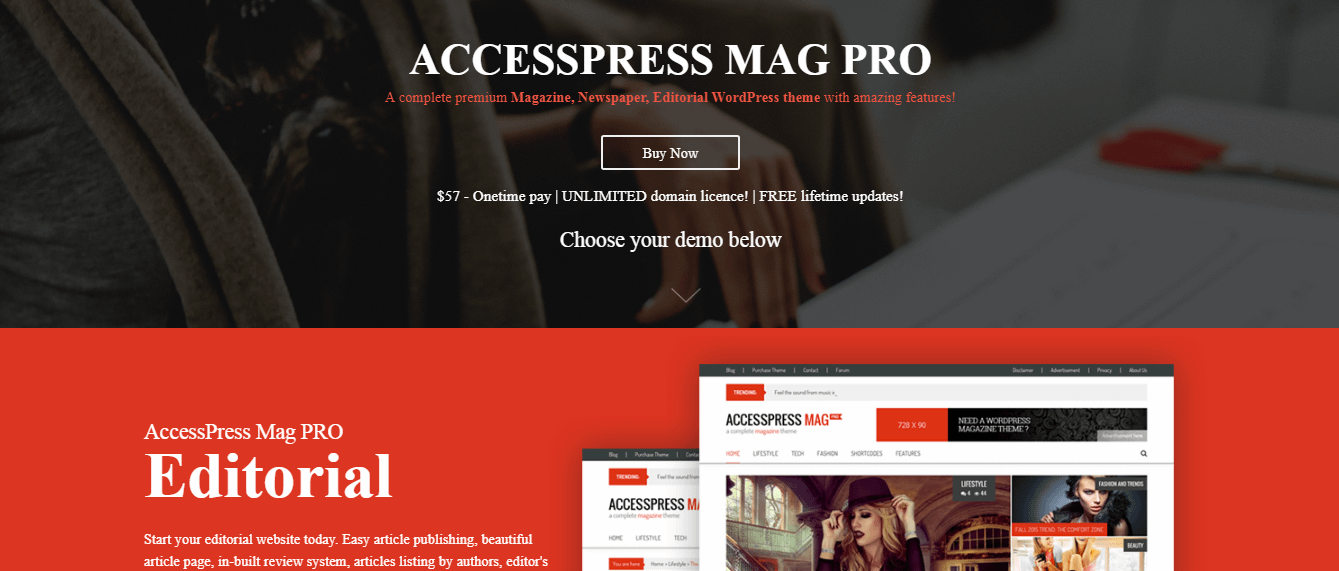 accesspress mag pro - 21+ Best Premium WordPress News/Magazine/Editorial Themes 2019