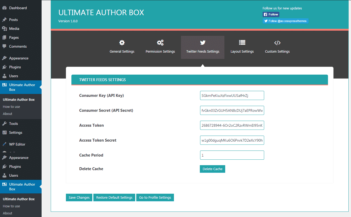Ultimate Author Box: Twitter Feed