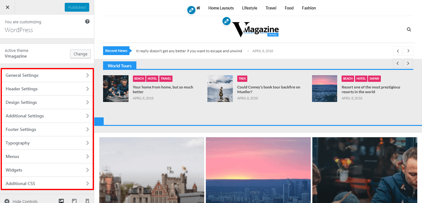 VMagazine Live Customization
