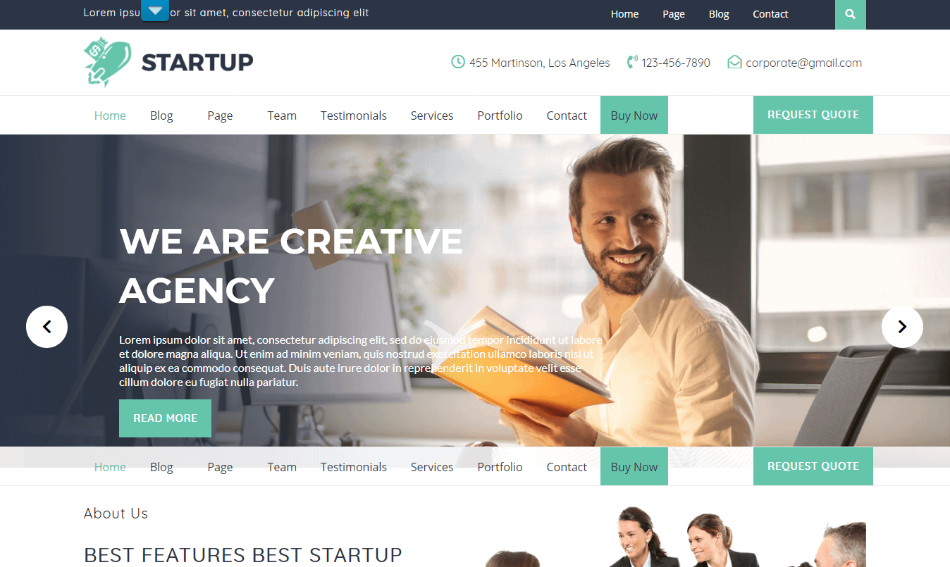 VW Startup Free WP Startup Theme - 21+ Best Free WordPress Themes (July 2018 Releases: Hotel, Business, Lawyer, Blog, Magazine, Education, Photography and more...)