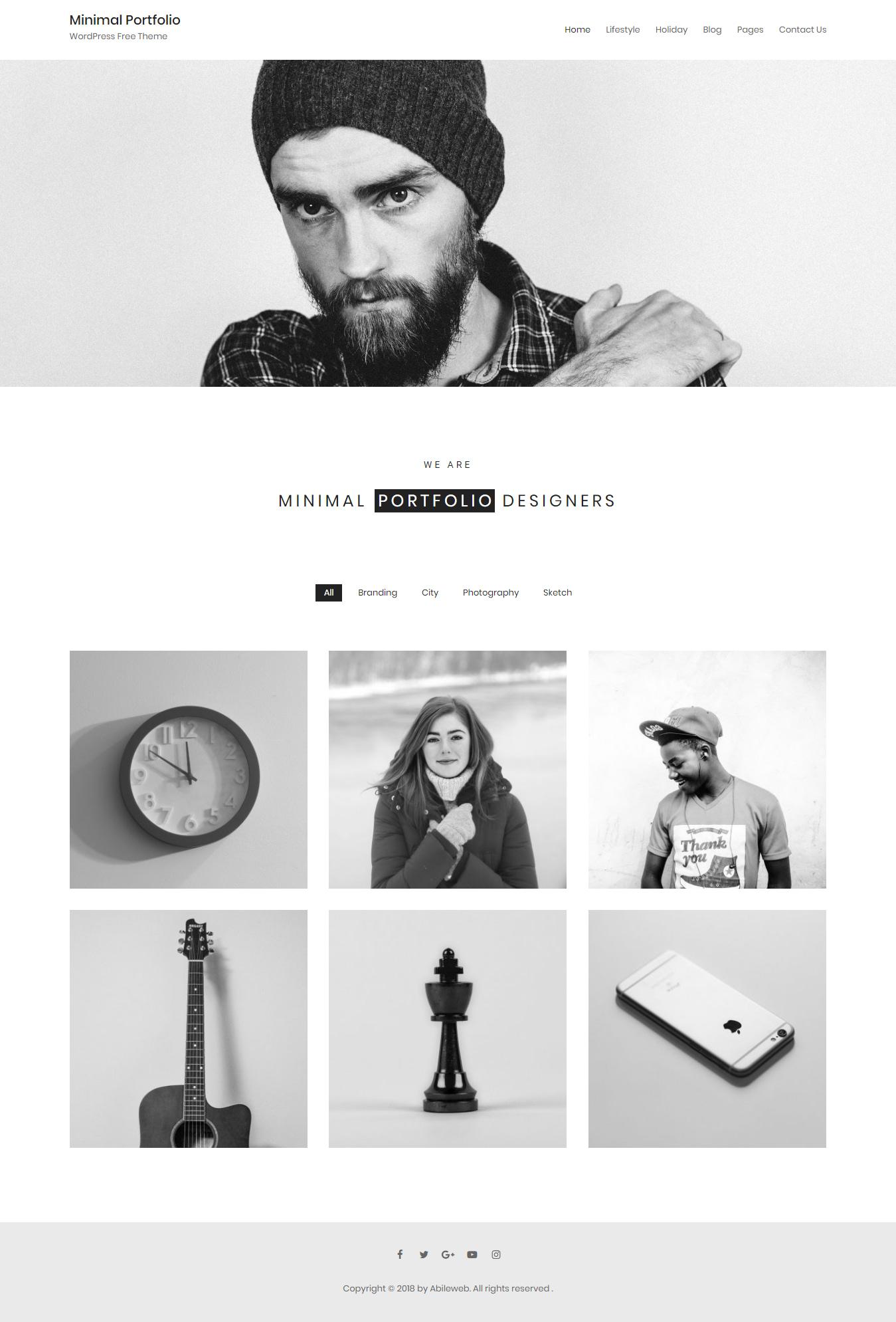 Minimal Portfolio - Best Free Minimal WordPress Theme