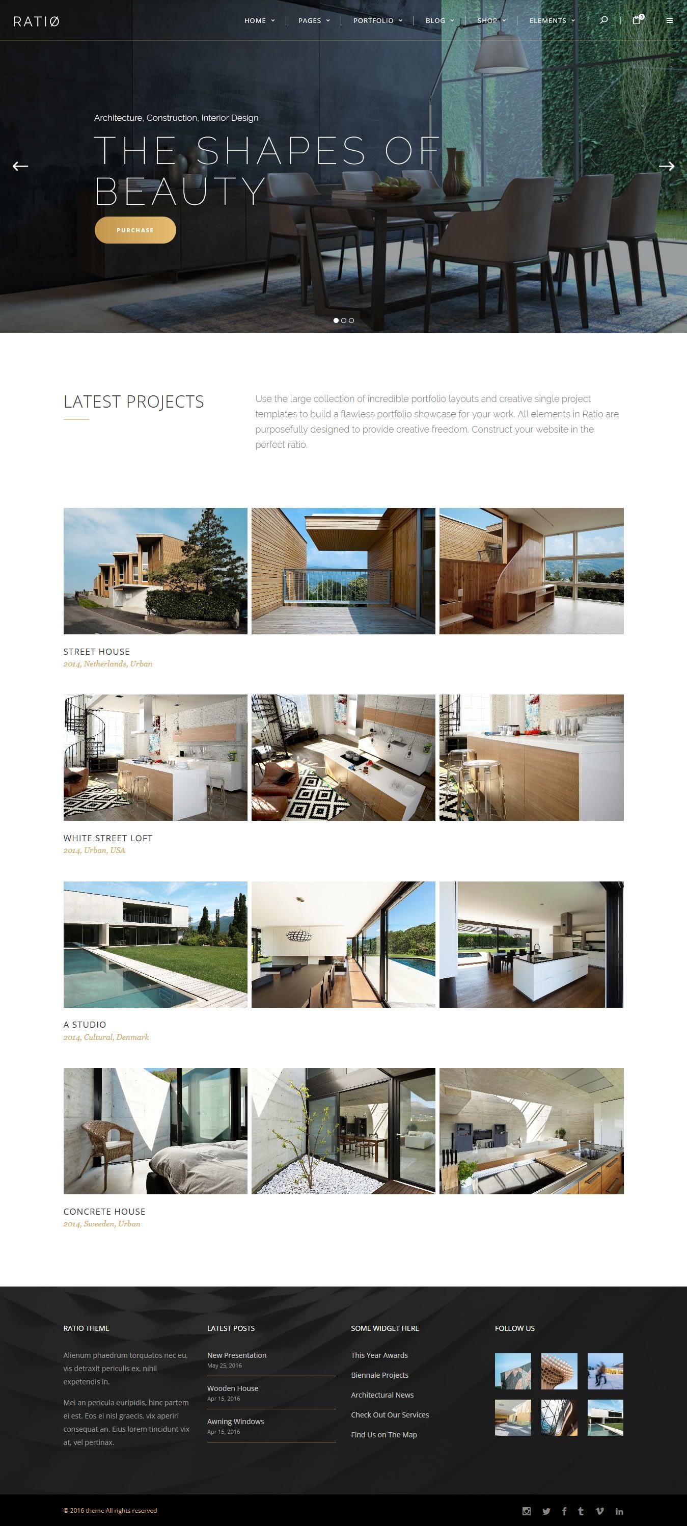 Ratio - Best Premium Interior Design WordPress Theme