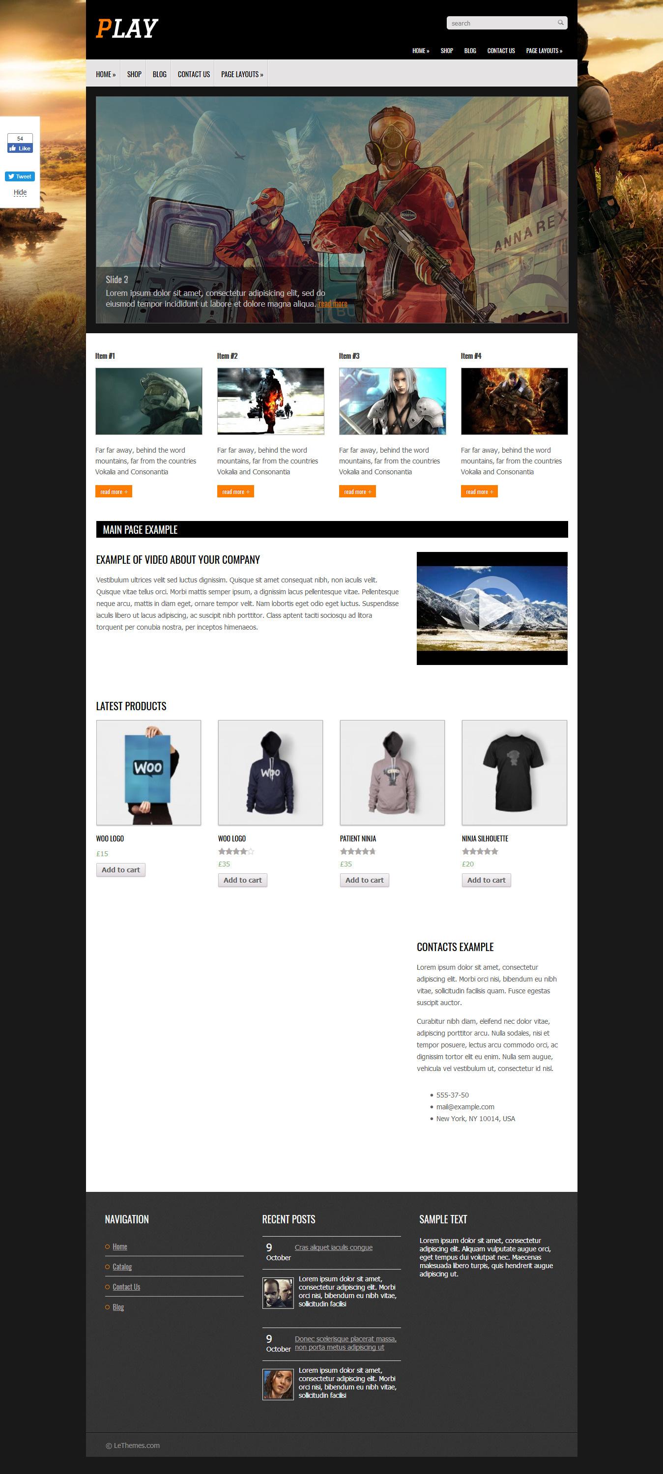 play best free gaming wordpress theme - 10+ Best Free Gaming WordPress Themes