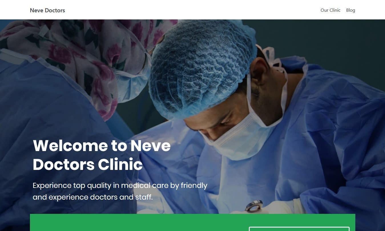 Neve - Free Medical WordPresws Theme