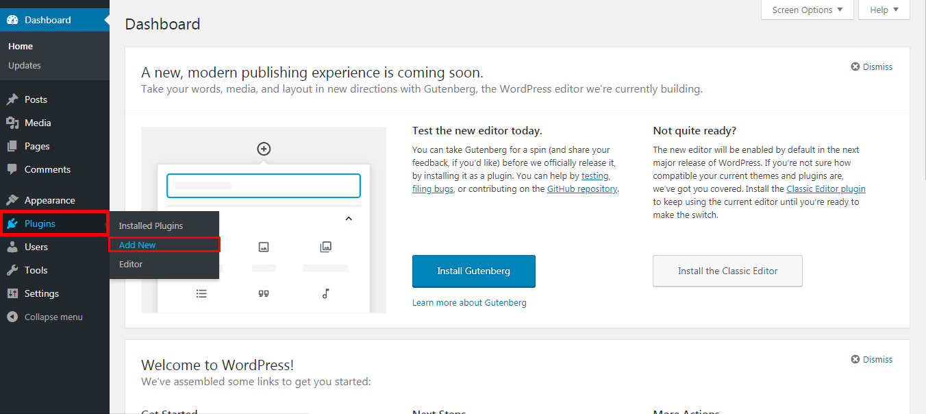 Installing Plugin to Create Contact Form in WordPress
