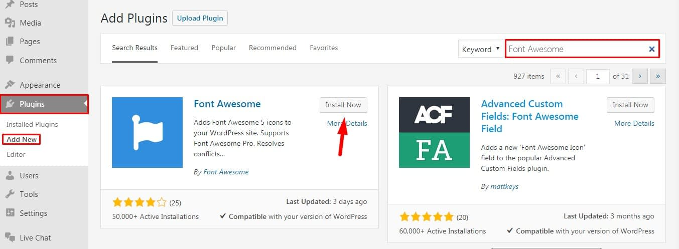 Add Font Awesome Icons in Wordpress.. - How To Add Font Awesome Icons in Wordpress