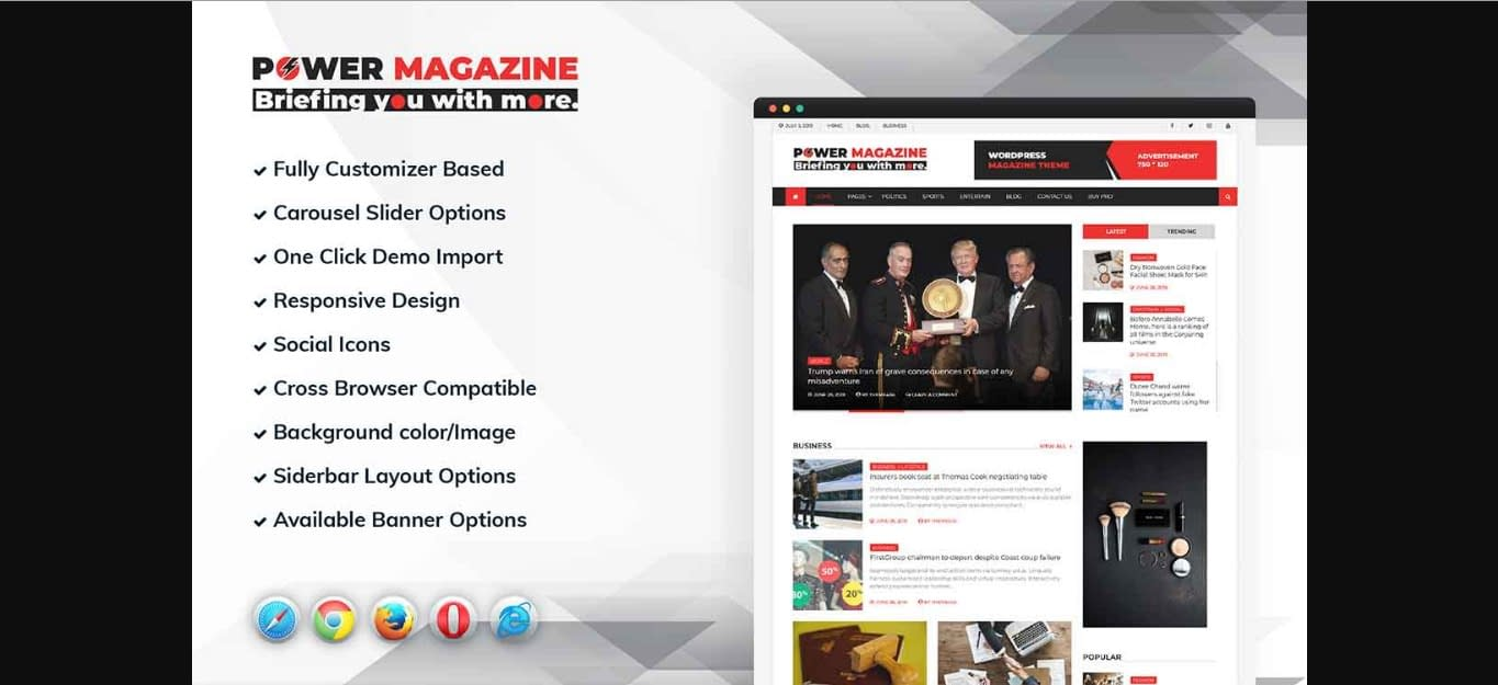 Power Magazine WordPress Theme