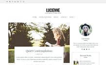 Lucienne - Stylish WordPress Blog Theme