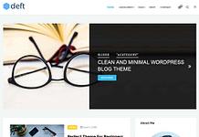 Deft - Free WordPress Theme for Blog and Magazine