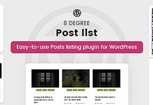 8Degree Posts List Lite - Free WordPress Post Listing Plugin