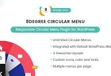8Degree Circular Menu - Responsive Circular Menu Plugin