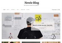 Newie - Clean and Mininmal Free WordPress Blog Theme