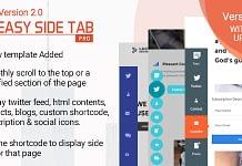 Best WordPress Floating Side Tab Plugins: Easy Side Tab Pro