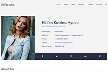 Selfgraphy - Free Biography WordPress Theme
