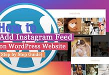 How to Add Instagram Feed on WordPress website? (Step by Step Guide)