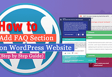 How to Add FAQ section on WordPress website? (Step by Step Guide)